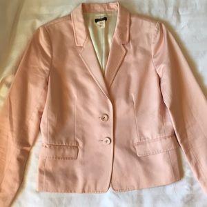 J Crew blush pink cotton blazer